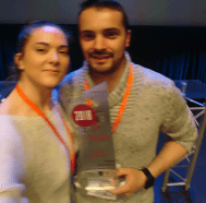 Photo de Flavie Laborie et Gael Valerio, fondateurs de Roboethic